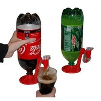 Fizz Saver 2-Liter Soda Soft Drink Dispenser- RED