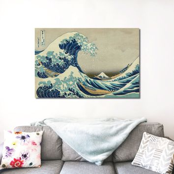 The Great Wave of Kanagawa Art Canvas Print
