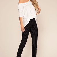 Lady Boss Striped Pants