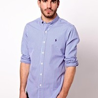 Polo Ralph Lauren Shirt In Stripe Poplin at asos.com