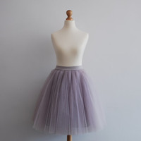 Blooming Ballerina : hand dyed tulle skirt  / adult tutu / ladies tulle skirt / bridesmaid / custom dyed skirt  / nude tulle skirt