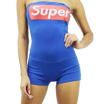 Super Comfort Tube Top Sleeveless Bodycon Fit Pull Over Short Romper