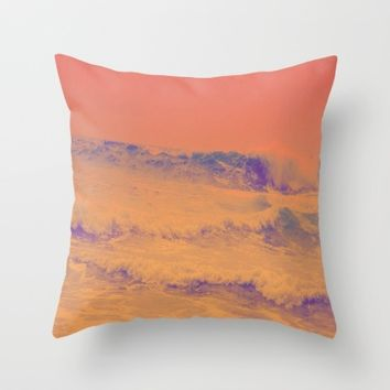 HeatWave Throw Pillow by Ducky B
