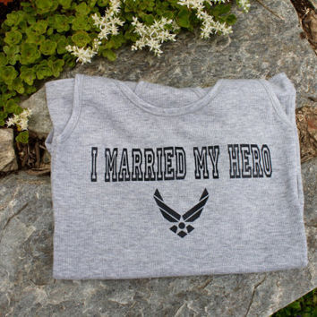sale! I married my hero air force tank top