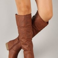 Top Moda Land-57 Women Synthetic Knee High Boot