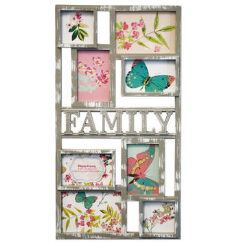 Grey Family Collage Photo Frame ( Case of 18 )
