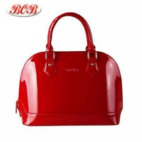 Lacquered Leather Shoulder Bag Ladies Handbag