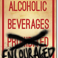 TIN SIGN Alcoholic Beverages