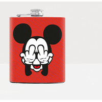 Hip flask / Flask / Mickey Mouse / Fuck you / Middle finger / Mickey Mouse parody