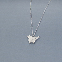 925 Sterling Silver lovely small elephant necklace ,a perfect gift !