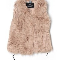 Check it out - Zara Faux Fur Vest for $20.49 on thredUP!
