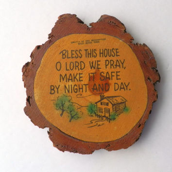Bless This House Rustic Wood Wall Hanging