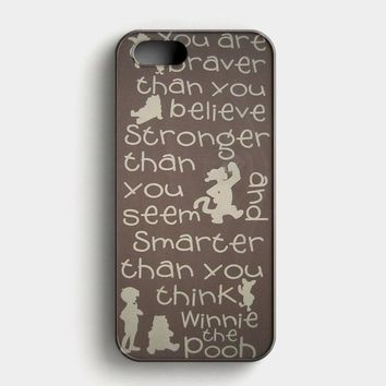 Winnie The Pooh Quotes 3 iPhone SE Case