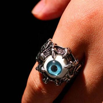 VONE7HQ OPAL FERRIE - Vintage Dragon Claw Eye Stainless Steel Ring