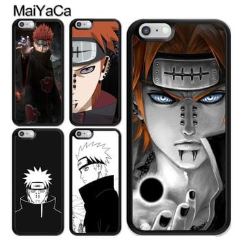 Naruto Sasauke ninja MaiYaCa Anime  Akatsuki Pain Printed Soft Rubber Cover For Apple iPhone X 8 7 6 6S Plus 5 5S SE Hard Plastic Phone Cases AT_81_8