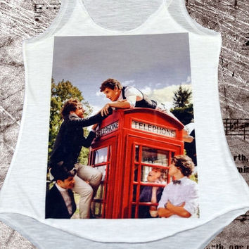 One direction , phone box , cool designer vest ladies summer