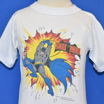 80s Batman Explosion Comic Book t-shirt Youth Medium