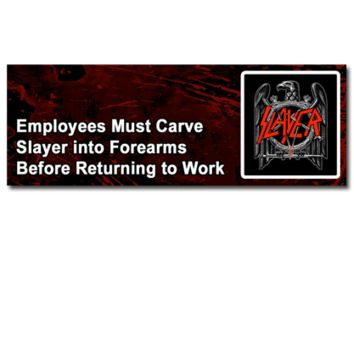 Slayer Employees Sticker | Slayer Store