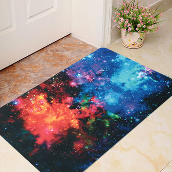 40x60cm 3D Star Pattern Room Door Mat Bathroom Kitchen Non-slip Floor Rug Carpet