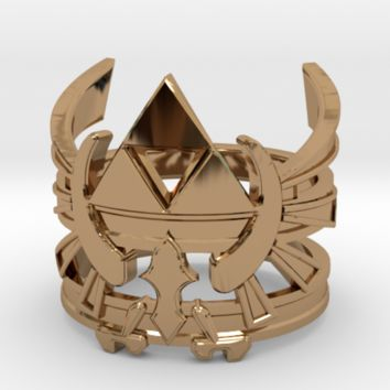 LoZ - Triforce ring - Zelda - medium sizes (15 to by nakamura_shop on Shapeways