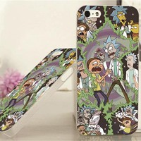 rick and morty inspired cell phone case