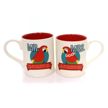 Tabletop Mr & Mrs Parrothead Mug Set Mug / Coffee Cup