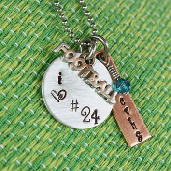 Football Mom or Girlfriend Necklace - Support your football star - School Pride - School Spirit - Booster Club