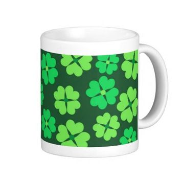 Green clover pattern - Mug