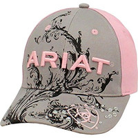 Ariat Women's Grey And Scroll Ballcap Grey One Size