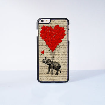 "Cute Elephant with Ballon  Plastic Phone Case For iPhone iPhone 6 Plus (5.5"") More Case Style Can Be Selected"