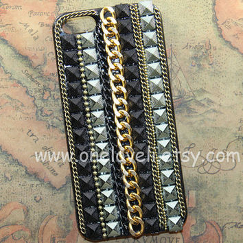 iphone 5 case, Steampunk Chains case for iphone 5 Case, iphone 5 cover, iphone 5 Hard Case, iphone case