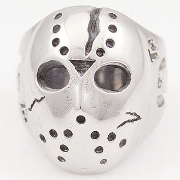 Ghost Era - Jason Friday 13th Ring - Silver/Grey