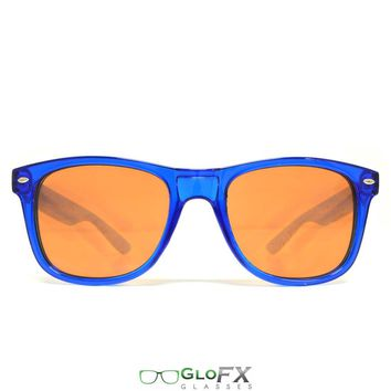 GloFX Ultimate Diffraction Glasses and Transparent Blue Auburn Enhanced