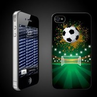 """Sports iPhone Design """"Soccer Goal"""" - CLEAR Protective iPhone 4/iPhone 4S Hard Case"""