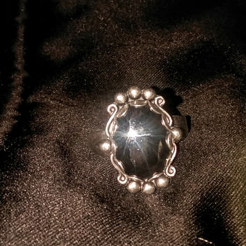 Vintage Hematite Sterling silver Ring