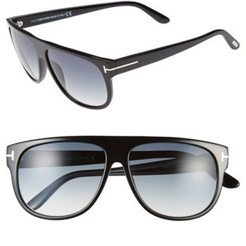 Men's Tom Ford 'Kristen' 59mm Aviator Sunglasses