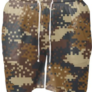Pixel Brown Army Camo Camouflage pattern