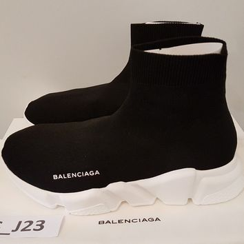 Authentic Balenciaga Speed Trainer black white Size 7US/40EU brand new