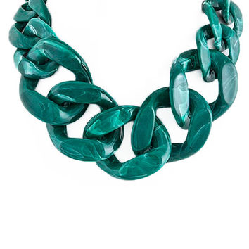 Malachite Chain Necklace
