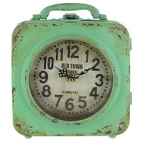 Green Old Town Double Metal Clock with Handle | Shop Hobby Lobby