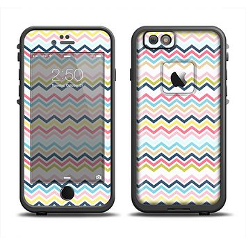 The Multi-Lined Chevron Color Pattern Apple iPhone 6 LifeProof Fre Case Skin Set