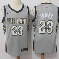Cleveland Cavaliers #23 LeBron James #0 Kevin Love City Edition Jersey