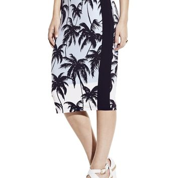 Vince Camuto Palm Pencil Skirt
