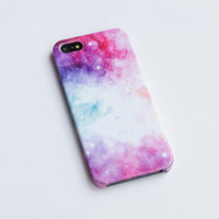 Pastel Galaxy Space iPhone 6 case ,Sweet Pink iPhone case , cute iphone 5s case, Hard plastic case , iphone 4s cover