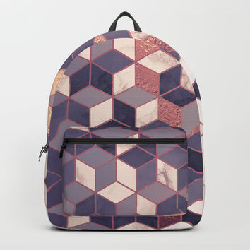 Abstract pattern in soft pastel Backpack by printapix