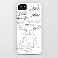 Harry Potter Cast Signatures - J.K. Rowling, Daniel Radcliffe, Emma Watson, Rupert Grint, etc iPhone & iPod Case by amy.