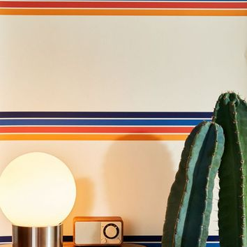 Retro Stripe Removable Wallpaper | Urban Outfitters