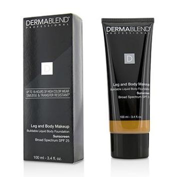 Dermablend Leg and Body Make Up Buildable Liquid Body Foundation Sunscreen Broad Spectrum SPF 25 - #Tan Golden 65N Make Up