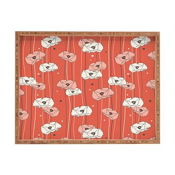 Heather Dutton Red Poppy Field 1 Rectangular Tray