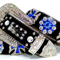 BHW WeStErN CoWgiRL BLaCk SaPpHiRe BLuE MaLtEsE CrOsS BeRrY CoNcHo LeAtHeR BeLt